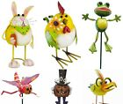 Body Bobbing Springy Metal Garden Ornament Figurine - Bunny Butterfly Bird