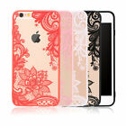 Delicate Flower Ultrathin Clear Soft Phone Back Case Cover For iPhone 6S 7 Plus