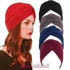 Turban woman retro cap band bandana hat folds soft new KT1113