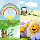 LIGHT SWITCH COVER VINYL STICKER SKIN PLATE RAINBOW OWL DAISY TREE HOUSE BIRDS