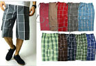 Shaka Wear - Men's Checker Plaid Shorts Checkered Pants Loose Fitting Size:S-5XL