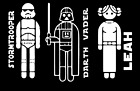 Star Wars Family Car Decal Build Your Own Character Family $1.85 USD on eBay