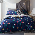 Floral Duvet/Quilt/Doona Cover Set Queen/King Size Bed Linen Long-Staple Cotton