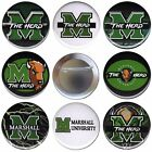 Marshall University Set of 8 Buttons, Magnets or Flat Backs Football -Pins Badge