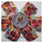 Baby/Toddler/Girl/Adult 3.5 Inch Pin Wheel Bow - Lego Friends