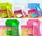 Small Animal Pet Luxury Toy Set Wood Ladder Stand Swing Hamster Mouse Rat Gerbil