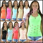 Sexy Women's Top Ladies Summer Mesh Fishnet Top Casual One Size 6,8,10,12 UK