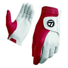 New TaylorMade Tour Preferred Vivid Golf Glove Vivid White/Red CABRETTA LEATHER