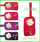 LUCKY CAT BUTTERFLY 3 Zipper Cotton Clutch Bag Handbag