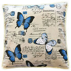 Cushion Cover Vintage Blue Butterfly Post French Provincial 40cm 50cm lumbar
