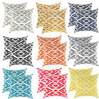 TreeWool, (2 Pack) Throw Pillow Covers in Cotton Canvas Ogee Ikat Diamond Accent