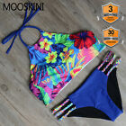 RXRXCOCO FLORAL Women's Bandage Push Up Padded Swimwear Bikini Set Bathing Suit