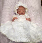 CRI6 Baby Girls Wedding Holiday Baptism Birthday Formal Prom Bonnet Gown Dress