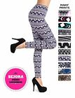 SEJORA Printed Leggings - Full Length Seamless Fashion Patterned - Many Designs