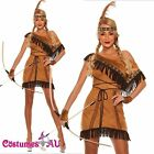 Ladies Pocahontas Native American Indian Wild West Fancy Dress Party Costume