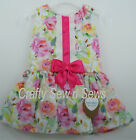Kinder Boutique - Baby Girls Pink Flowers Spanish Style Drop Waist Dress