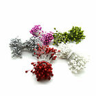 150 pcs Coloured Beads on Wire Pearl Effect Balls on Stems for Wedding Bouquets
