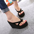 Summer Fashion Women's Casual Slippers Wedge Platform High Heel Beach Sandals