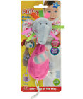 Nuby Plush Pacifinder Pacifier Holder, 0 Month Plus - Bunny or Elephant