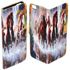For HTC One X10 U11 Play Ultra Desire 530 - Horse Print Wallet Phone Case Cover