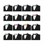 Children Kids Boys Check Bow Ties Tuxedo Bow Tie Adjustable Strap Bow Tie