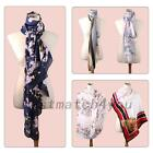 Exquisite Eco-friendly Flower Women Floral Scarf Scarves Wrap Shawl Stole Hot