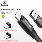 Baseus Micro USB Lightning Compatible Reversible 2 in 1 Data Sync Charging Cable