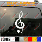 Treble Clef  Music NotationCar Decal Sticker