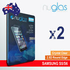 2 X Genuine Nuglas Tempered Glass Screen Protector for Samsung Galaxy S5 S6 S7