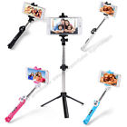 3in1 Selfie Stick Monopod Tripod Mount Bluetooth Shutter Remote Kit for phones