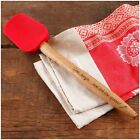 NWT The Pioneer Woman Red OR Turquoise Silicone Spoon Spatula/Acacia Handle