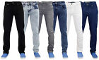 New Mens True Face Slim Fit Stretch Denim Basic 5 Pocket Western Jeans