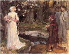 Dante and Beatrice by John Waterhouse (classic print)