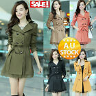 Women's Jacket Coat Overcoat Lace Casual Slim Fit Trench Parka