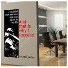 STICKER Decals Vinyl Way I Succeed Michael Jordan Alonline DSN Vinyl Wall Decal