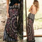 BOHO Hippy Gypsy Women Casual Summer Floral Long Maxi Skirt Beach Sundress YA323