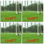 White Football Goal Nets Double Knotted Polypropylene Twine Nets Multi-Size