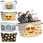 Women's Gift Travel Cosmetic Toiletry Bag Makeup Storage Pouch Case Emoji