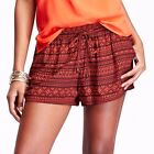 Old Navy Women's summer relax fit casual viscose printed Shorts orange