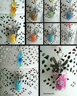 FAIRY DUST CAR REAR VIEW MIRROR DANGLE CHARM CHAIN HANGING ORNAMENT GLASS BOTTLE