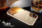 New Full Cover Mirror Tempered Glass + Metal Bumper Case For iPhone 5S 6S 7 Plus