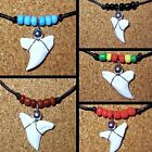 REAL TIGER SHARK TOOTH PENDANT ADJUSTABLE CORD NECKLACE CHARM SURFER BOY GIRL