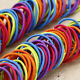 YH 100X Elastic Rope Women Fashion Hair Ties Ponytail Holder Head Band Hairbands