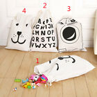 Graceful Cotton Canvas Printing Bag Pouch Clothes Baby Kids Laundry Storage