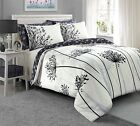 BEAUTIFUL MEADOW DESIGN GREY bed Set Duvet Cover with Pillowcases all sizes