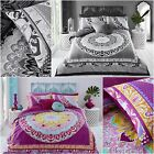 GORGEOUS PAISLEY MANDALA PINK or BLACK duvet Cover with Pillowcases all sizes
