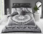 GORGEOUS PAISLEY MANDALA BLACK duvet Cover with Pillowcases all sizes
