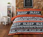 STYLISH NEW DESIGN RETRO TEXT ORANGE duvet Cover with Pillowcases all sizes