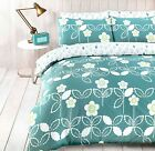 FUNKY SCANDI FLORAL TEAL Duvet Cover with Pillowcases ALL SIZES
