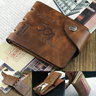 Mens Fashion Genuine Leather Bifold Wallet Credit/ID Card Holder Slim Coin Purse